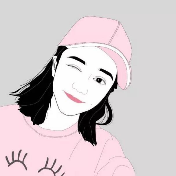 小清新卡通女生唯美插畫qq頭像圖片