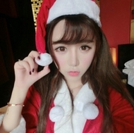 穿圣誕裝的清純萌妹子qq頭像圖片