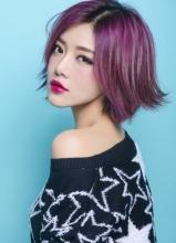 爱情公寓邓家佳创意写真 烈焰红唇酷帅时尚