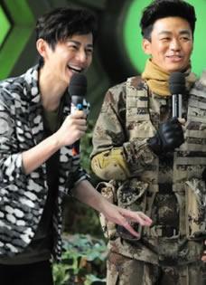 《快乐大本营》最新一期剧照 王宝强张丰毅热血男人
