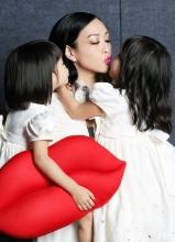 钟丽缇携女儿拍时尚COSMO杂志写真