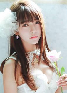 yurisa大尺度写真 梦幻纯白马甲爆乳