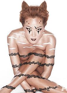 大S高圆圆 华人女星为动物全裸代言大盘点