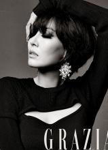 金素妍黑白质感写真 烟熏妆性感妩媚