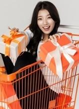 miss A秀智清新广告大片 笑容甜美送礼物