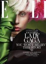 Lady Gaga妆容朴素登Elle杂志10月刊封面
