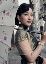 马苏电视剧旗袍照 展示女人古典魅力
