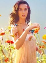 水果姐凯蒂·佩里性感大片 唯美花丛薄纱遮体