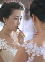 严宽女友杜若溪婚纱大年夜片 唯美小清爽