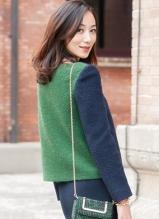 韓雪最新春裝街拍 百變造型優雅時尚