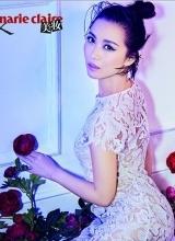 姚贝娜登嘉人杂志 醉人眼妆诠释优雅