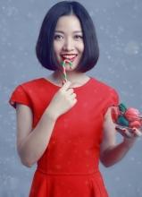 好声音姚贝娜圣诞美妆大片 时尚简约