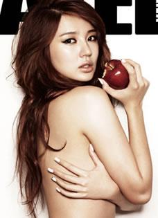 尹恩惠內衣代言性感寫真 半裸展現完滿身材