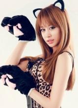 T-ara成员朴智妍可爱画报写真