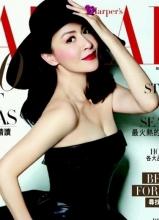 刘嘉玲全新杂志大片 左拥右抱情挑三男