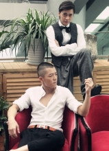 李易峰王栎鑫GQ杂志写真 打造复古时尚形象