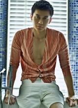 李晨腹肌紧实浴室湿身引诱杂志写真
