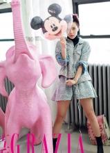 郭采洁成时尚杂志新宠 纽约时装周造型抢眼