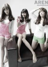 少女时代时尚杂志ARENA摄影  青涩动人魅力爆发
