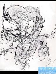 传统龙纹身图片
