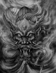 龙纹身图片:满背龙纹身图片作品