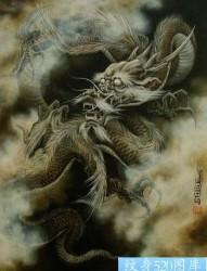 传统腾云龙纹身图片