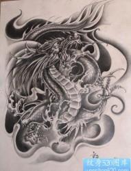 纹身图片:超酷超赞的经典霸气的龙纹身图片作品