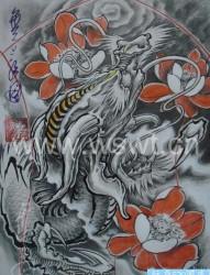 潮流霸气的龙头纹身图片