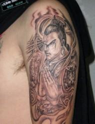 三只眼睛的神仙 二郎神纹身