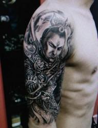 超有个性的手臂二郎神刺青