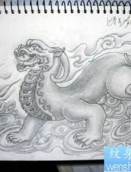 护财神兽貔貅纹身图案