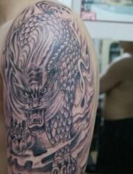 帅气的神兽 麒麟纹身