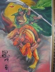 关公纹身图片:花臂关公赵云赵子龙龙纹身图片纹身作品