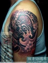 黑色嘎巴拉纹身图案欣赏
