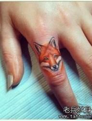 一组超有难度的狐狸手指纹身图片图片作品