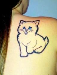一组可爱的小猫咪纹身