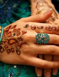 印度海娜个性手臂纹身