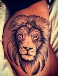 霸气狮子头手臂纹身