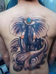 经典大象图案纹身