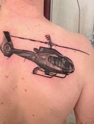 帅气的航空飞机图片纹身
