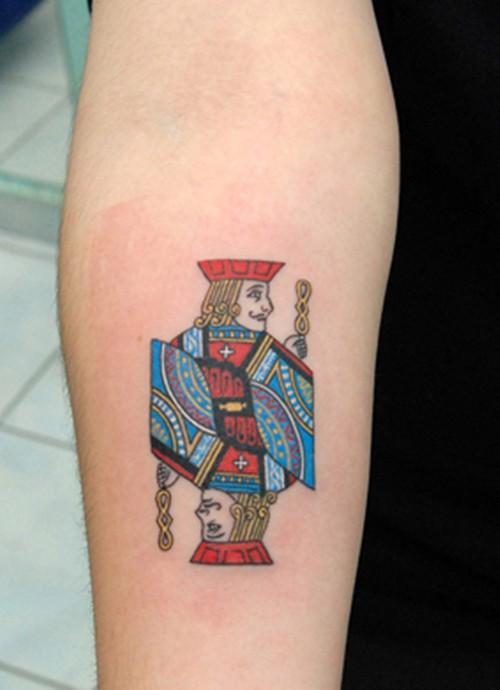 点击大图看下一张:时尚有趣的扑克牌图案纹身