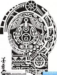 一款适合纹半甲纹身手稿图片