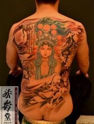 时尚花旦纹身