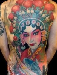 超漂亮的京剧人物  花旦纹身
