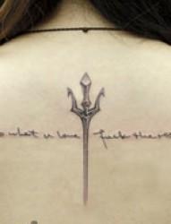 手腕唯美的英文纹身