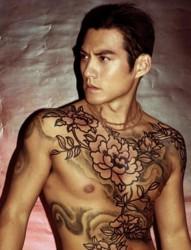 经典燕青男性纹身