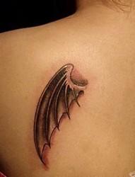 堕落天使的恶魔小翅膀图案