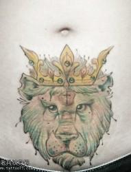 射手座腹部个性纹身