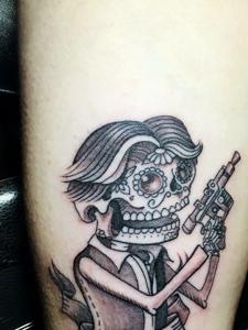 邪恶个性的另类骷髅纹身图片