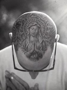 圣母玛利亚纹身图片